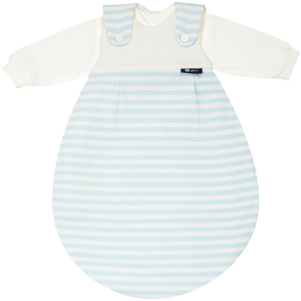Alvi Babymäxchen Schlafsack 3 tlg. Blockstreifen blau