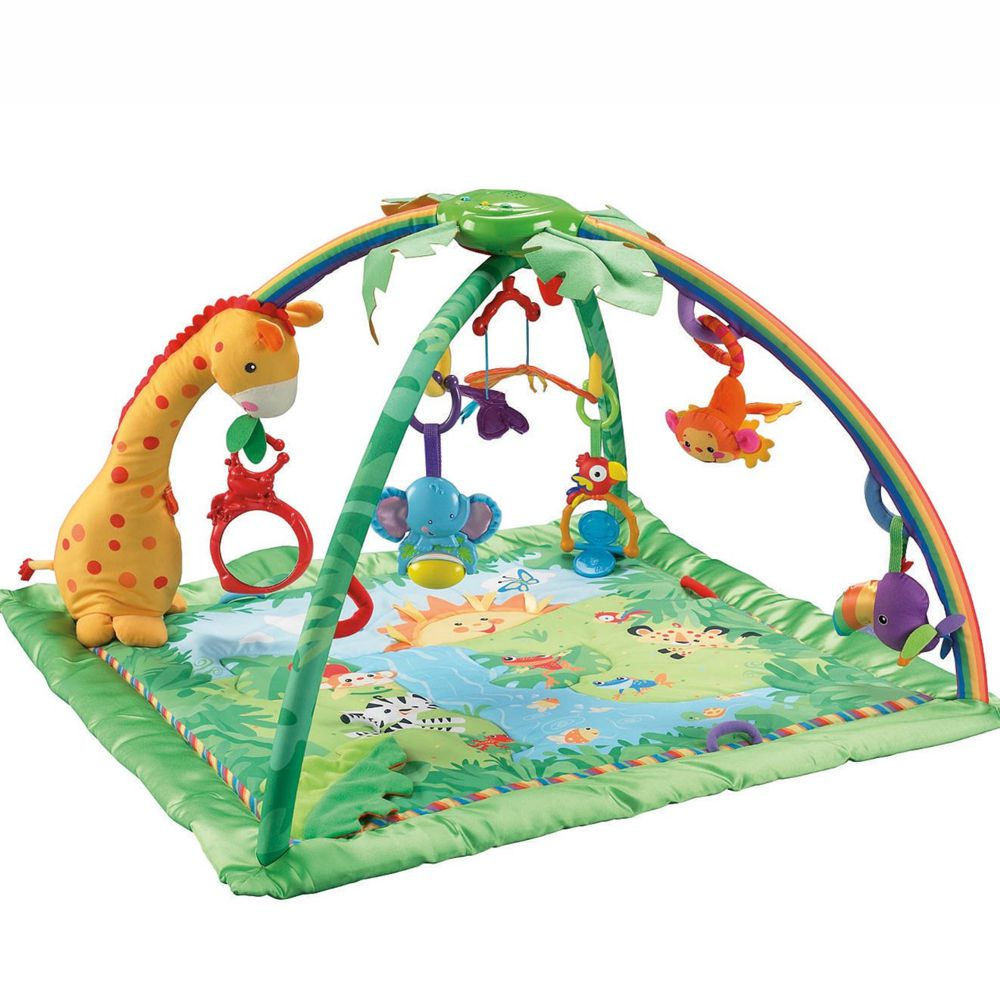 Fisher Price Rainforest de luxe Activity Krabbeldecke mit Spielbogen