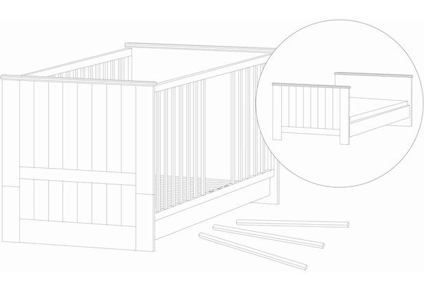 roba kombi kinderbett dreamworld 2 g nstig kaufen. Black Bedroom Furniture Sets. Home Design Ideas